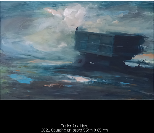Paintings - Trailer And Hare