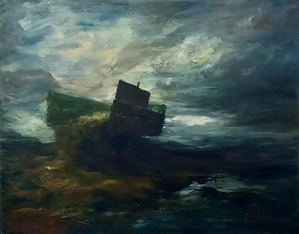 """Trailer"" - 2021 Oil on canvas - 172cm x 183cm"